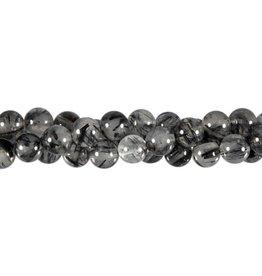 Toermalijnkwarts kralen A-kwaliteit rond 8 mm (streng van 40 cm)