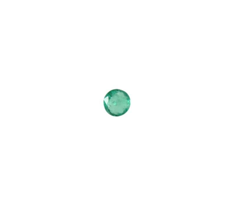 Gefacetteerde smaragd rond 4 mm