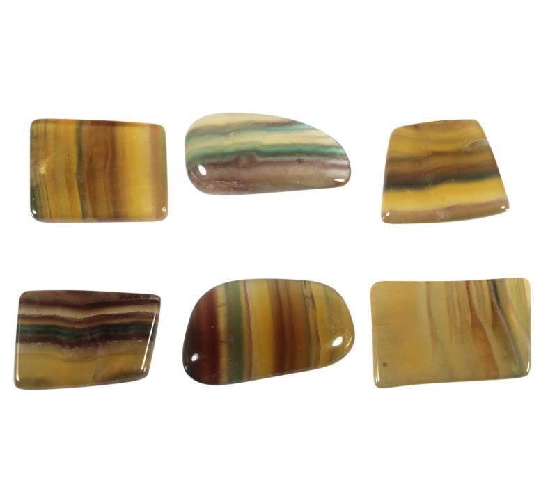 Fluoriet (regenboog) steen getrommeld 15 - 25 gram