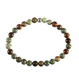 Opaal (groen) armband 18 cm | 6 mm kralen