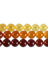 Barnsteen (shaded) kralen rond 6 mm (streng van 40 cm)