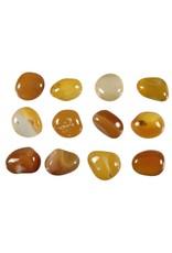 Agaat (geel) steen getrommeld 2 - 5 gram