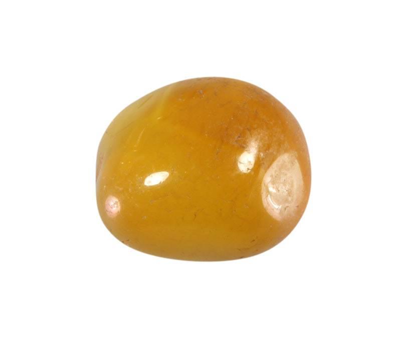 Agaat (geel) steen getrommeld 5 - 10 gram