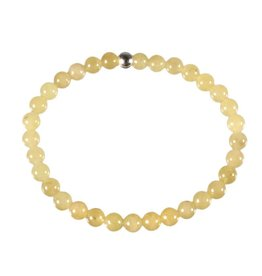 Danburiet (geel) armband 18 cm | 6 mm kralen