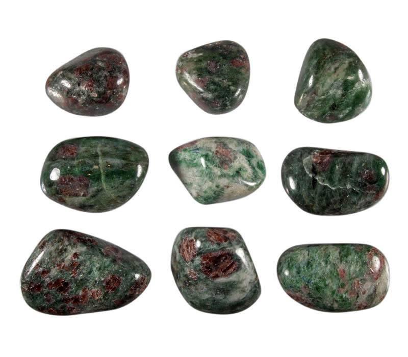 Eklogiet steen getrommeld 15 - 20 gram