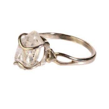 Zilveren ring herkimer diamant maat 17 1/2