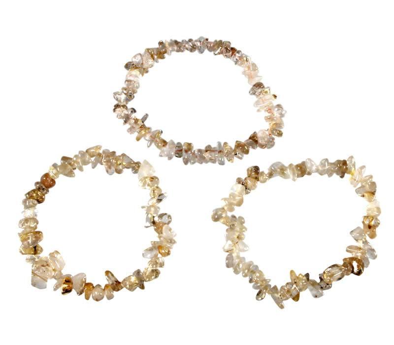 Rutielkwarts (goud) armband split