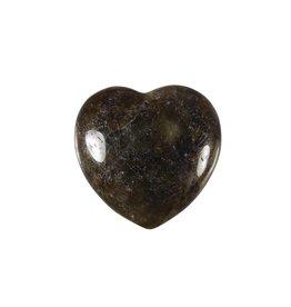 Labradoriet edelsteen hart 3 cm B-kwaliteit