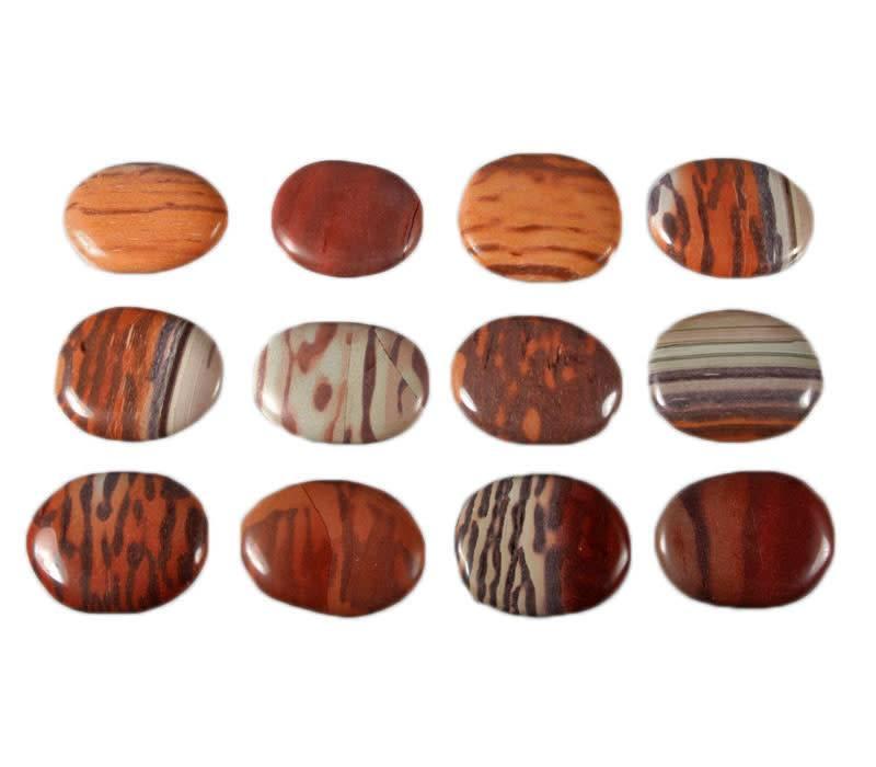 Jaspis (zebra) steen plat gepolijst