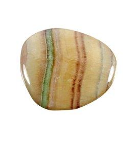 Fluoriet (regenboog) steen plat gepolijst