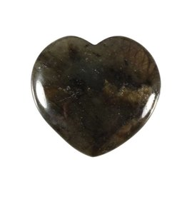 Labradoriet edelsteen hart 4 cm