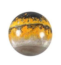 Bumble bee jaspis edelsteen bol 54 mm / 216 gram
