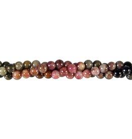 Toermalijn (multicolour) kralen rond 6 mm (streng van 40 cm)