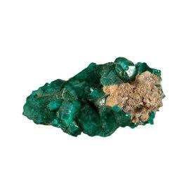 Dioptaas kristallen A-kwaliteit op moedergesteente 9,26 gram