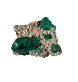 Dioptaas kristallen A-kwaliteit op moedergesteente 12,35 gram