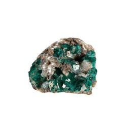 Dioptaas kristallen A-kwaliteit op moedergesteente 7,71 gram