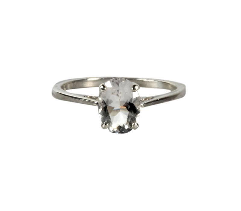 Zilveren ring azeztuliet maat 17 | ovaal facet 8 x 6 mm