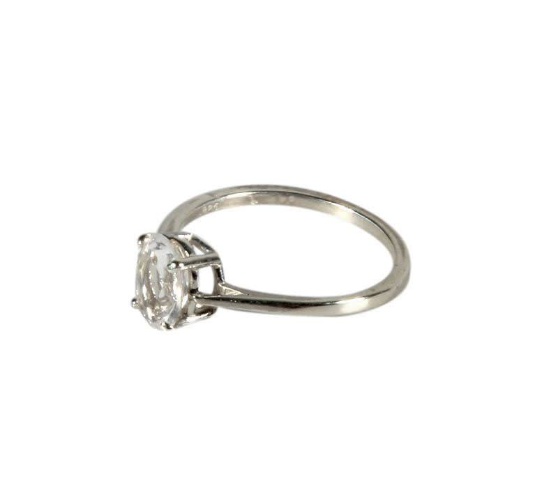 Zilveren ring azeztuliet maat 18 | ovaal facet 8 x 6 mm