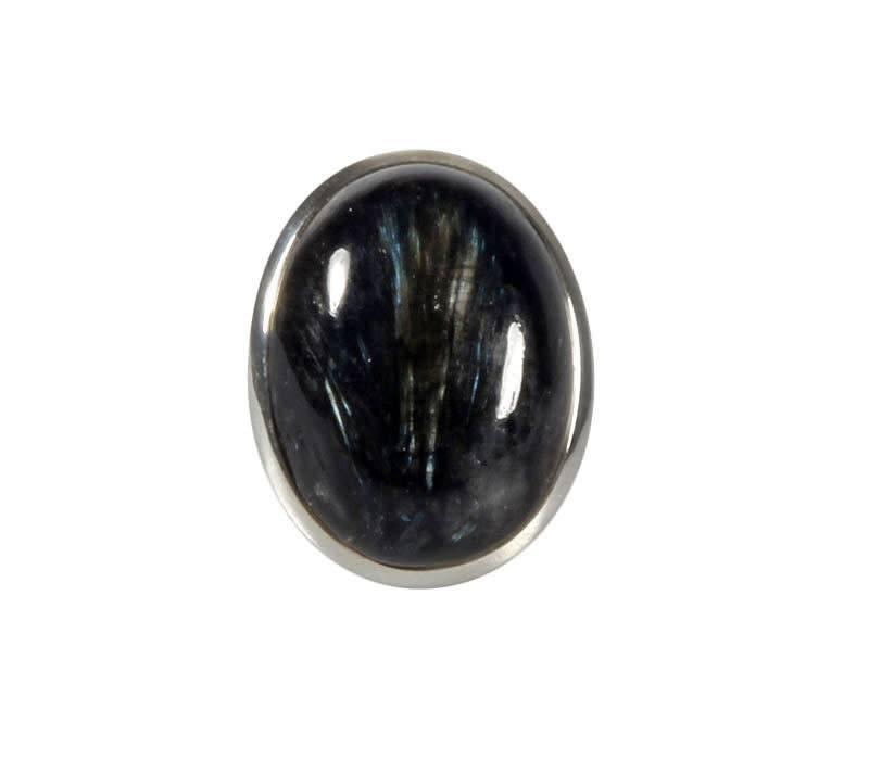 Zilveren ring nuummiet maat 18 1/2 | ovaal 2,6 x 1,9 cm