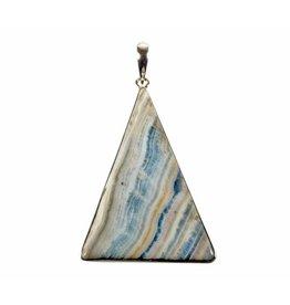 Zilveren hanger scheeliet | driehoek 5,2 x 3,9 cm