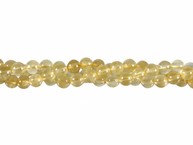 Beryl (goud) kralen rond 6 mm (snoer van 40 cm)