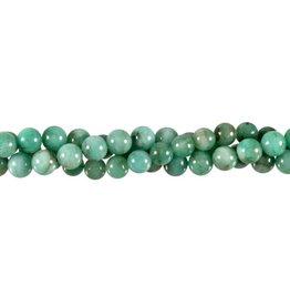 Smaragd kralen rond 6,5 - 7 mm (streng van 40 cm)