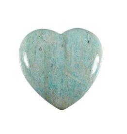 Amazoniet edelsteen hart 4 cm