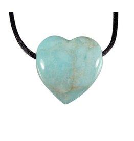 Amazoniet hanger B-kwaliteit hart doorboord