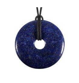 Lapis lazuli hanger donut A-kwaliteit 4 - 4,5 cm