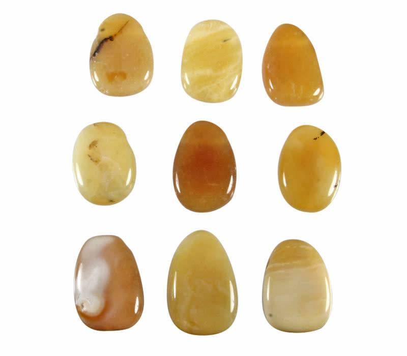 Opaal (honing) hanger doorboord