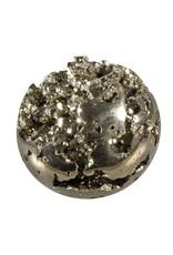 Pyriet cluster edelsteen bol 60 mm / 379 gram