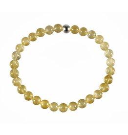 Beryl (goud) armband 18 cm | 6 mm kralen