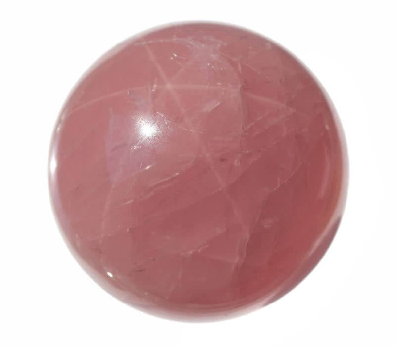Rozenkwarts (ster) edelsteen bol A-kwaliteit 72 mm / 589 gram