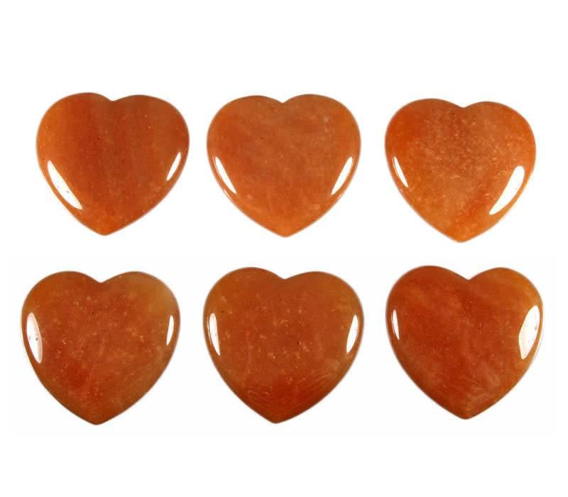 Aventurijn (rood) edelsteen hart 4 cm
