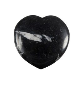 Chrysant steen edelsteen hart 4 cm