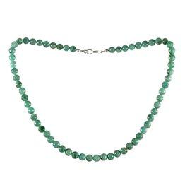 Smaragd ketting 7 mm kralen