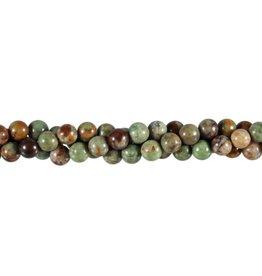Opaal (groen) kralen rond 6 mm (streng van 40 cm)