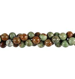 Opaal (groen) kralen rond 8 mm (streng van 40 cm)