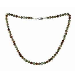 Opaal (groen) ketting 6 mm kralen