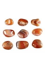 Carneool steen getrommeld 20 - 30 gram