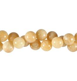 Calciet (geel) kralen rond 12 mm (streng van 40 cm)