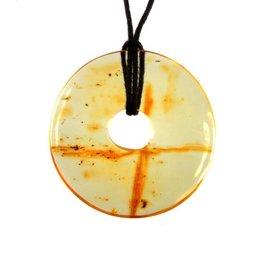 Barnsteen hanger donut 4,5 cm