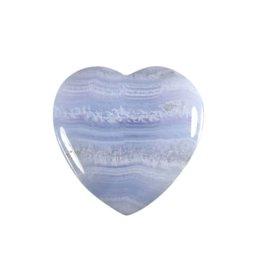 Chalcedoon A-kwaliteit edelsteen hart 4 cm