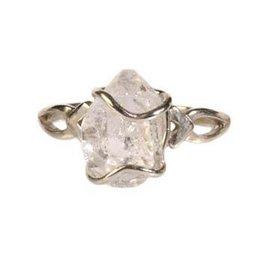 Zilveren ring herkimer diamant maat 20