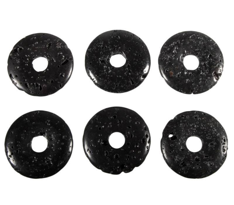 Lavasteen hanger donut 3 cm