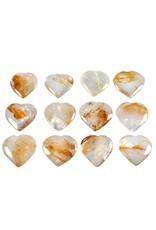 Golden healer edelsteen hart 3,5 - 4,5 cm