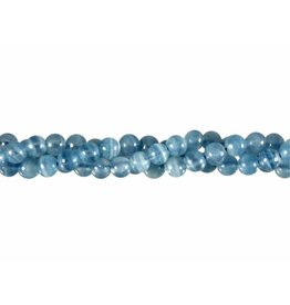 Aragoniet (blauw) kralen rond 6 mm (streng van 40 cm)