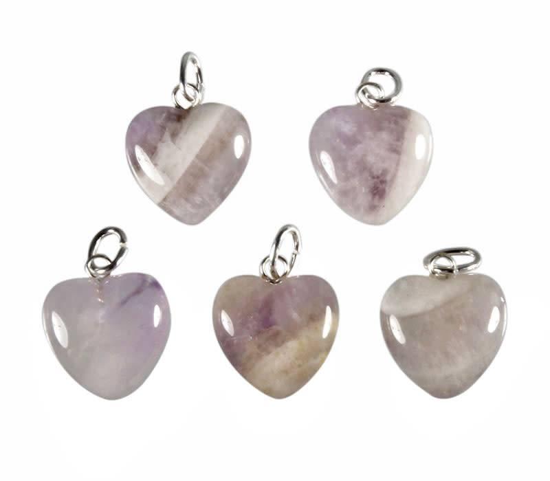 Amazez hanger hart 15 mm met zilveren oogje