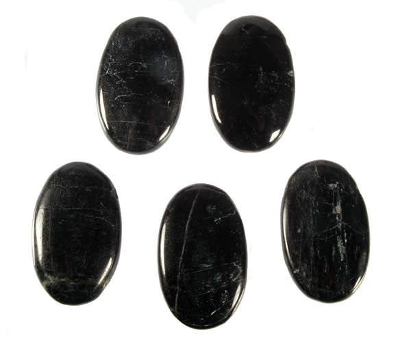 Toermalijn (zwart) hanger doorboord ovaal