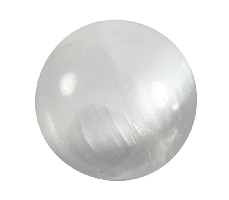 Seleniet edelsteen bol 70 - 75 mm